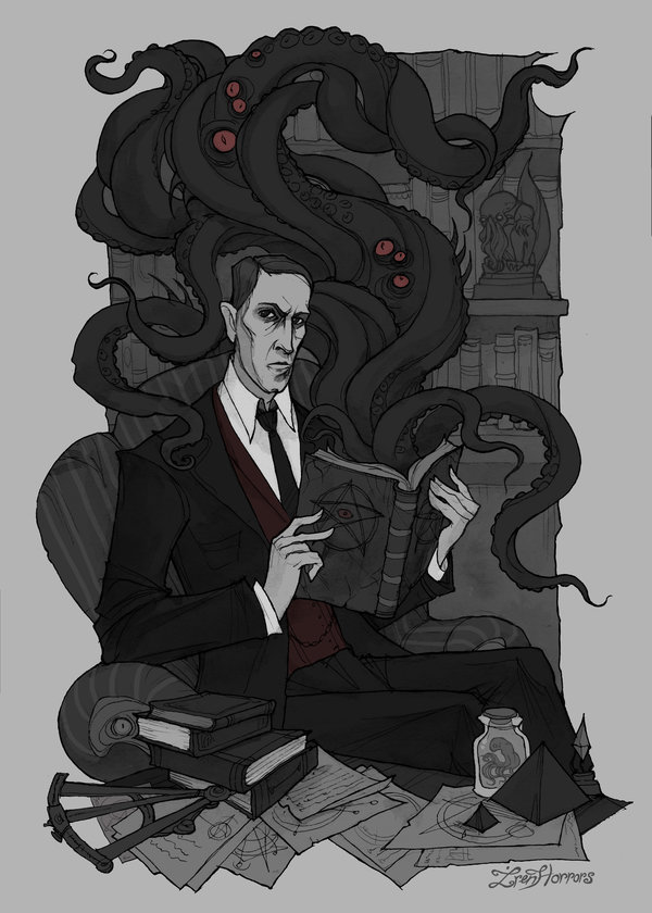 H.P. Lovecraft by IrenHorrors
