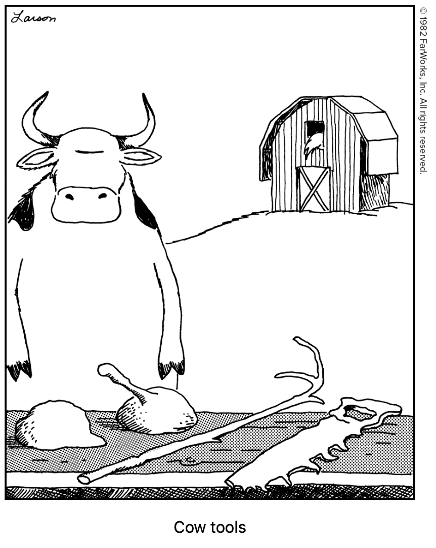 Far Side-Cow Tools